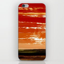 Orange Horizon iPhone Skin