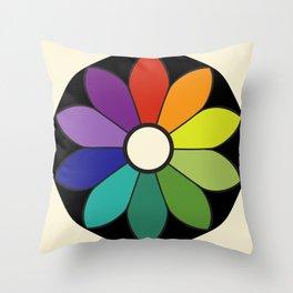 James Ward's Chromatic Circle (interpretation) Throw Pillow
