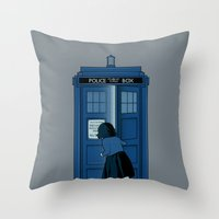 narnia Throw Pillows featuring A Magical Box [Doctor Who, Narnia] by Ruwah