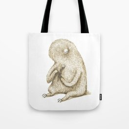 Sloth With Flower Tote Bag