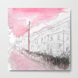 If the Sky is Pink and White Metal Print