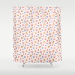 Colourful Floral Pattern Shower Curtain