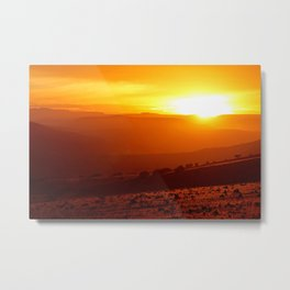 Golden African Morning Metal Print