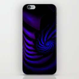 Spiral abstract fractal iPhone Skin