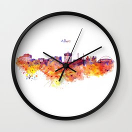 Athens Skyline Wall Clock