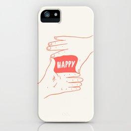Focus on Happy iPhone Case