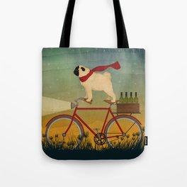 Pug Bike Tote Bag