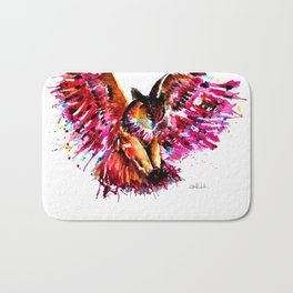 Flying Owl Bath Mat