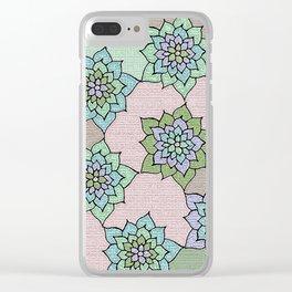 zakiaz lotus design Clear iPhone Case
