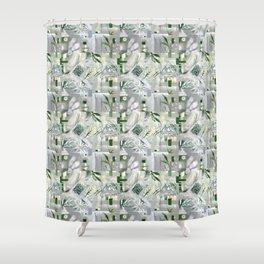 green_pattern Shower Curtain
