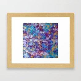 Rainbow dance Framed Art Print