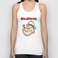 popeye Tank Tops featuring popeye by store2u