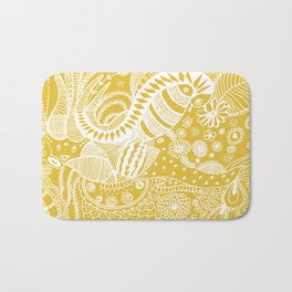 Yellow nature Bath Mat