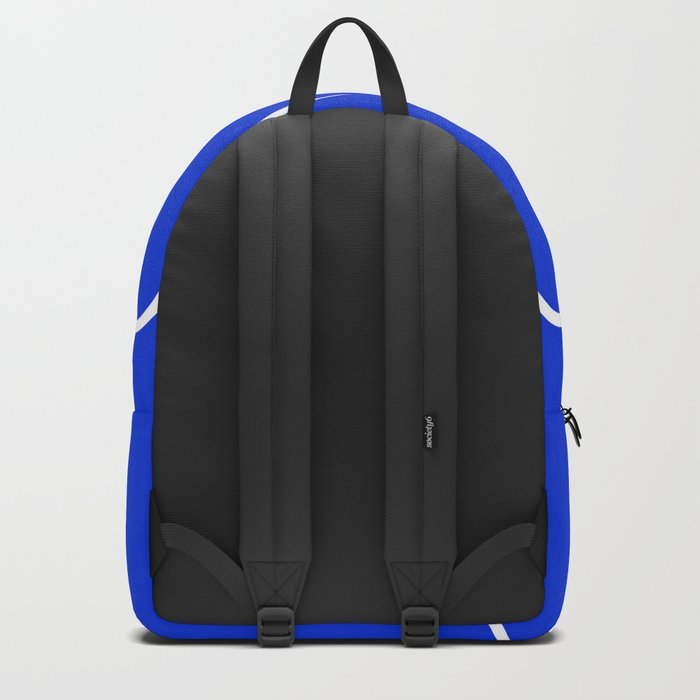Blue Abstract Wave Backpack