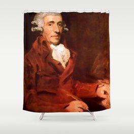 Franz Joseph Haydn (1732-1809) by John Hoppner in 1791 Shower Curtain