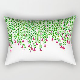 Trumpet Flowers hanging Down Rectangular Pillow