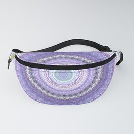 Lavender Blue Mandala Fanny Pack