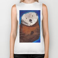 otter Biker Tanks featuring Otter by Cre8tive Papier