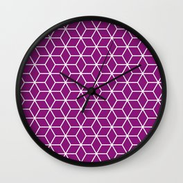 Winter 2018 Color: Orchid Blood in Cubes Wall Clock