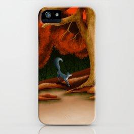 Blue Fox at The Dark Pool of Malkkaard iPhone Case