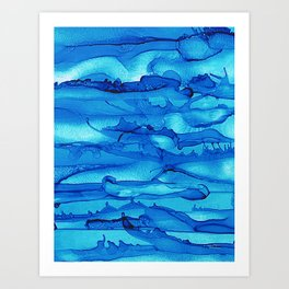 Alcohol Ink Seascape 2 Art Print