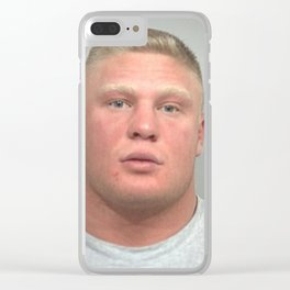 Brock Lesnar Mugshot Clear iPhone Case
