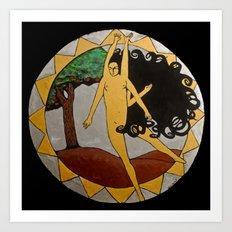 Kali Dancing Art Print