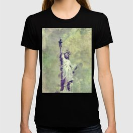 Textured Statue of Liberty T-shirt