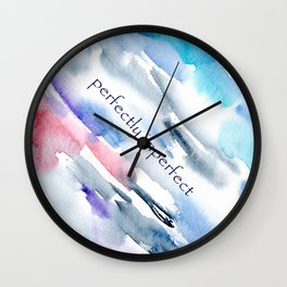 Perfectly imperfect || watercolor Wall Clock