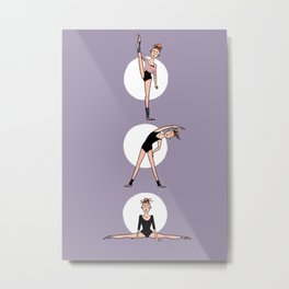 Stretching Ballerinas Metal Print