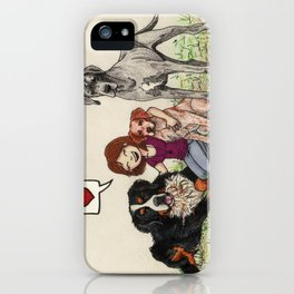 I love dogs iPhone Case