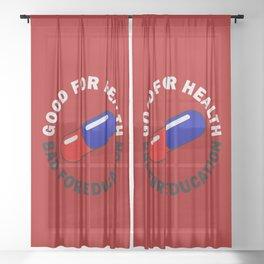 Capsule Circle Sheer Curtain