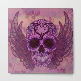 skull bat Metal Print