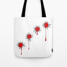 Blooded Bullet Holes Tote Bag