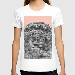 Buddha face with beige T-shirt