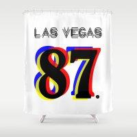 las vegas Shower Curtains featuring Las Vegas by Joe Alexander