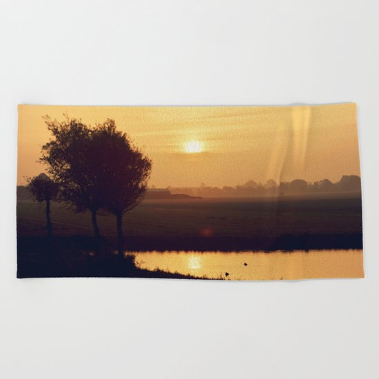 City Sunlight #4 Beach Towel