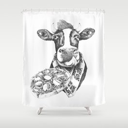 Picky Moo Shower Curtain