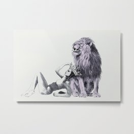 The Queen (Leo) Metal Print