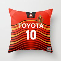 2001 Throw Pillows featuring Nagoya 2001 by Thomas Fiers