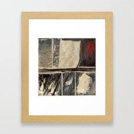 Textured Marble Popular Painterly Abstract Pattern - Black White Gray Red - Corbin - Artist Framed Art Print