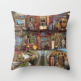 The Museum Shelf Throw Pillow