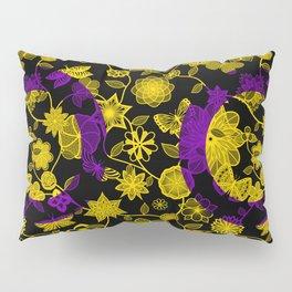 Butterfly Garden, Pride Flag Series - Intersex Pillow Sham