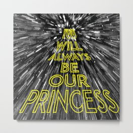 Thank you, Carrie Fisher Metal Print