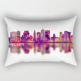 Quebec city Canada Skyline Rectangular Pillow