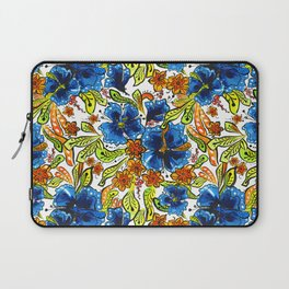 Floral Blues & Tangy Greenery Laptop Sleeve