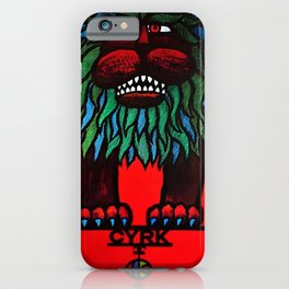 Rare Grouchy Lion Cyrk Trade Print Advertising Poster iPhone Case