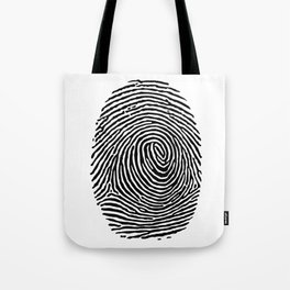 Fingerprint CSI crime scene Tote Bag