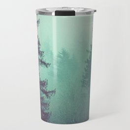 Forest Fog Fir Trees Travel Mug