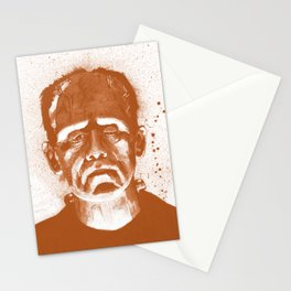 Frankenstein's Monster in Orange Stationery Cards